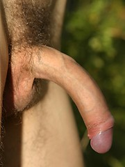 Redhead twink from Czech posing outdoors