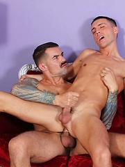 Smooth Twink Jordan Jacobs and Tattooed Daddy Joe Gunn Fire Off Big Loads